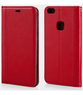 """Raudonas atverčiamas dėklas Huawei P10 Lite telefonui """"Elegance"""""""