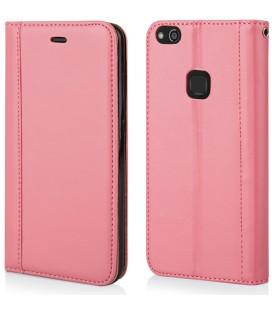 """Rožinis atverčiamas dėklas Huawei P10 Lite telefonui """"Elegance"""""""