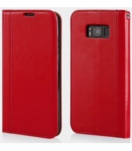 """Raudonas atverčiamas dėklas Samsung Galaxy S8 Plus telefonui """"Elegance"""""""