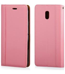"""Rožinis atverčiamas dėklas Samsung Galaxy J3 2017 telefonui """"Elegance"""""""