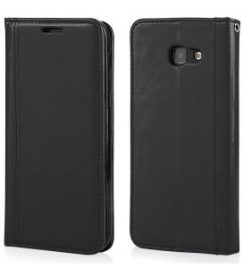 """Juodas atverčiamas dėklas Samsung Galaxy A5 2017 telefonui """"Elegance"""""""