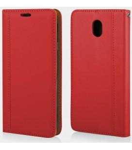 """Raudonas atverčiamas dėklas Samsung Galaxy J7 2017 telefonui """"Elegance"""""""