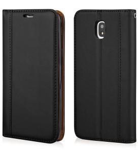 """Juodas atverčiamas dėklas Samsung Galaxy J7 2017 telefonui """"Elegance"""""""