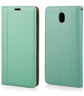 """Mėtos spalvos atverčiamas dėklas Samsung Galaxy J7 2017 telefonui """"Elegance"""""""