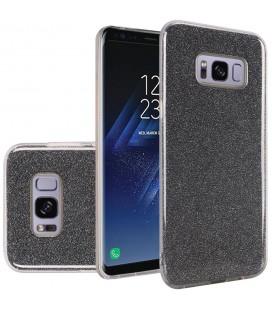 """Juodas silikoninis blizgantis dėklas Samsung Galaxy S8 telefonui """"Blink"""""""