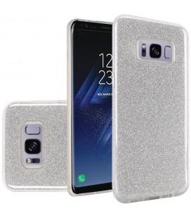 """Sidabrinės spalvos silikoninis blizgantis dėklas Samsung Galaxy S8 telefonui """"Blink"""""""