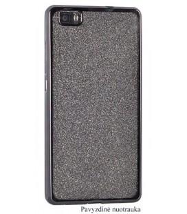 """Juodas silikoninis blizgantis dėklas Huawei P8/P9 Lite 2017 telefonui """"Glitter Case Elektro"""""""