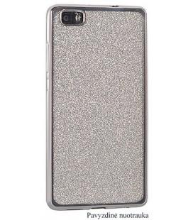 """Sidabrinės spalvos silikoninis blizgantis dėklas Samsung Galaxy J3 2017 telefonui """"Glitter Case Elektro"""""""