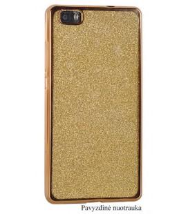 """Auksinės spalvos silikoninis blizgantis dėklas Samsung Galaxy J7 2017 telefonui """"Glitter Case Elektro"""""""