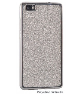 """Sidabrinės spalvos silikoninis blizgantis dėklas Samsung Galaxy J7 2017 telefonui """"Glitter Case Elektro"""""""