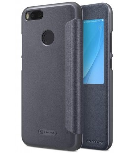 """Atverčiamas juodas dėklas Xiaomi Mi5X (Mi 5X, Mi A1) telefonui """"Nillkin Sparkle S-View"""""""