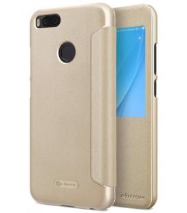 """Atverčiamas auksinės spalvos dėklas Xiaomi Mi5X (Mi 5X, Mi A1) telefonui """"Nillkin Sparkle S-View"""""""