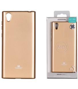 """Auksinės spalvos silikoninis dėklas Sony Xperia L1 telefonui """"Mercury Goospery Pearl Jelly Case"""""""