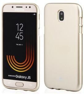 """Rausvai auksinės spalvos silikoninis dėklas Samsung Galaxy J5 2016 telefonui """"Mercury iJelly Case Metal"""""""