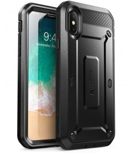 "Juodas dėklas Apple iPhone X / 10 telefonui ""Supcase Unicorn Beetle Pro"""