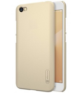"""Auksinės spalvos plastikinis dėklas Xiaomi Redmi Note 5A telefonui """"Nillkin Frosted Shield"""""""