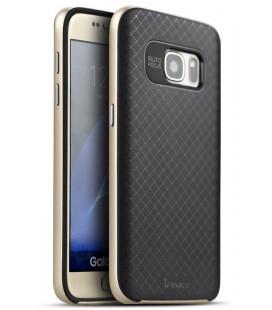"""Auksinės spalvos dėklas Samsung Galaxy S7 telefonui """"iPaky Bumblebee Neo Hybrid"""""""