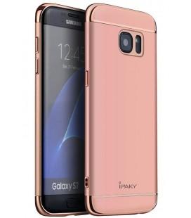 """Rausvai auksinis dėklas Samsung Galaxy S7 telefonui """"iPaky 3in1"""""""