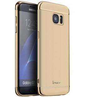 """Auksinės spalvos dėklas Samsung Galaxy S7 telefonui """"iPaky 3in1"""""""