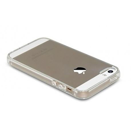 Skaidrus plonas 0,3mm silikoninis dėklas iPhone 5/5s telefonui