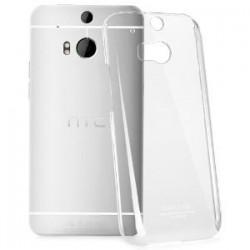 Skaidrus plonas 0,3mm silikoninis dėklas HTC One M8/M8s telefonui