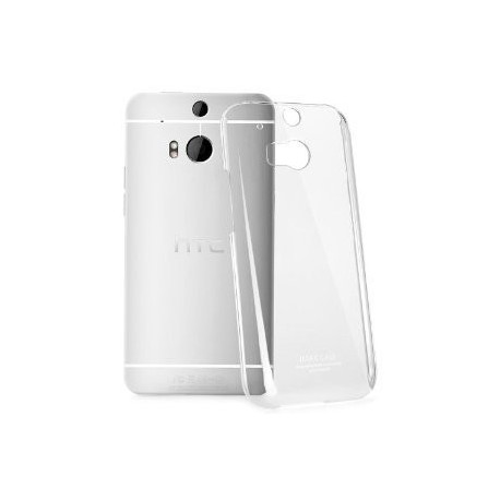 Skaidrus plonas 0,3mm silikoninis dėkla HTC One M8 telefonui