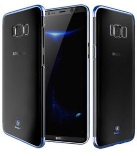 "Mėlynas dėklas Samsung Galaxy S8 telefonui ""Baseus Glitter Hard PC Case"""