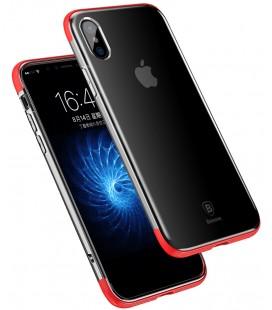 """Raudonas dėklas Apple iPhone X telefonui """"Baseus Armor Case"""""""