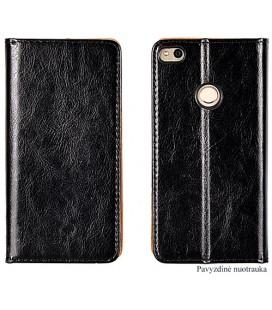 """Odinis juodas atverčiamas klasikinis dėklas Huawei P9 Lite telefonui """"Book Special Case"""""""