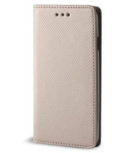 """Auksinės spalvos atverčiamas dėklas Xiaomi Redmi Note 5A telefonui """"Smart Book Magnet"""""""