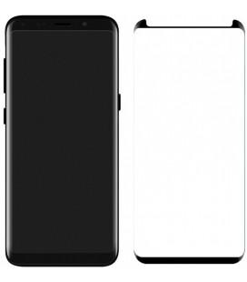 Lenktas juodas apsauginis grūdintas stiklas Samsung Galaxy S8 Plus telefonui