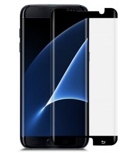 Lenktas juodas apsauginis grūdintas stiklas CF Samsung Galaxy S7 Edge telefonui