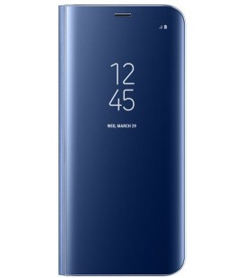 "Originalus mėlynas dėklas ""Clear View Standing Cover"" Samsung Galaxy S8 telefonui ef-zg950cle"