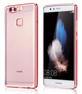 """Rausvai auksinės spalvos silikoninis dėklas Huawei P10 telefonui """"Glossy"""""""