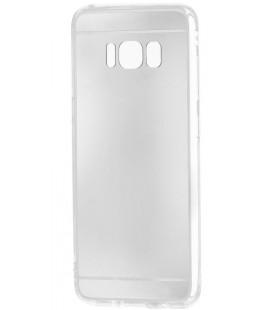 """Sidabrinės spalvos silikoninis dėklas Samsung Galaxy S8 Plus telefonui """"Mirror"""""""