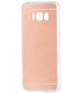 """Rausvai auksinės spalvos silikoninis dėklas Samsung Galaxy S8 telefonui """"Mirror"""""""