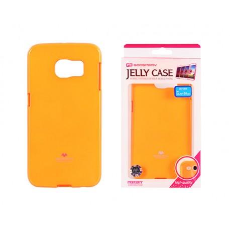 """Oranžinis dėklas Mercury Goospery """"Jelly Fluorescent"""" Samsung Galaxy S6 Edge G925 telefonui"""
