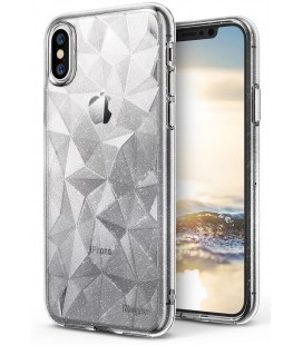 "Skaidrus dėklas Apple iPhone X telefonui ""Ringke Prism Air Glitter"""