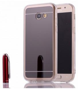 """Juodas silikoninis dėklas Samsung Galaxy A3 2017 telefonui """"Mirror"""""""