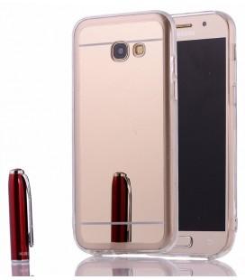 """Auksinės spalvos silikoninis dėklas Samsung Galaxy A3 2017 telefonui """"Mirror"""""""
