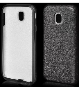 """Juodas silikoninis blizgantis dėklas Samsung Galaxy J3 2017 telefonui """"Blink"""""""