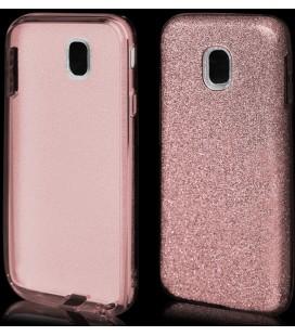 """Rožinis silikoninis blizgantis dėklas Samsung Galaxy J3 2017 telefonui """"Blink"""""""
