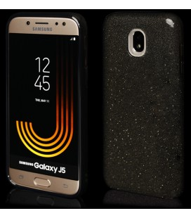 """Juodas silikoninis blizgantis dėklas Samsung Galaxy J5 2017 telefonui """"Blink"""""""