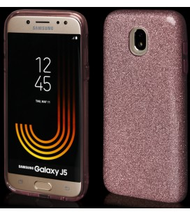 """Rožinis silikoninis blizgantis dėklas Samsung Galaxy J5 2017 telefonui """"Blink"""""""