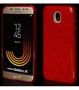 """Raudonas silikoninis blizgantis dėklas Samsung Galaxy J5 2017 telefonui """"Blink"""""""