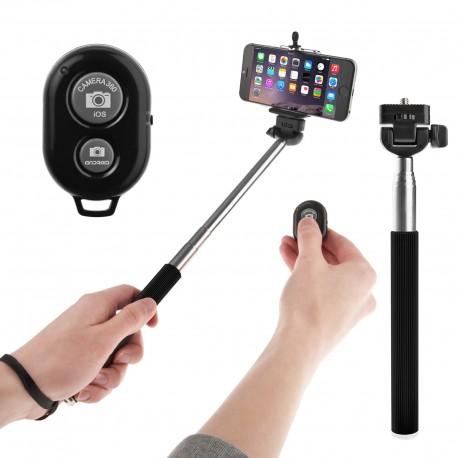 """Teleskopinė lazda asmenukėms """"Selfie"""" daryti su pulteliu """"Monopod"""""""