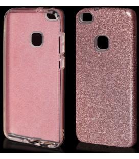 "Rožinis silikoninis blizgantis dėklas Huawei P10 Lite telefonui ""Blink"""