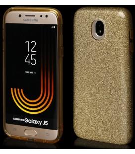 """Auksinės spalvos silikoninis blizgantis dėklas Samsung Galaxy J5 2017 telefonui """"Blink"""""""