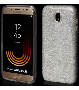 """Sidabrinės spalvos silikoninis blizgantis dėklas Samsung Galaxy J5 2017 telefonui """"Blink"""""""