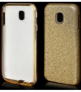 """Auksinės spalvos silikoninis blizgantis dėklas Samsung Galaxy J3 2017 telefonui """"Blink"""""""